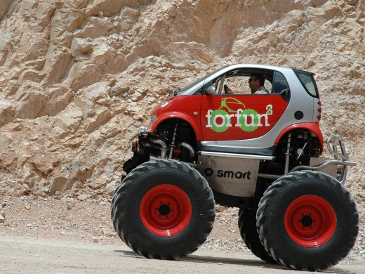 The smart forfun, a smart forfour with monster truck ambitions