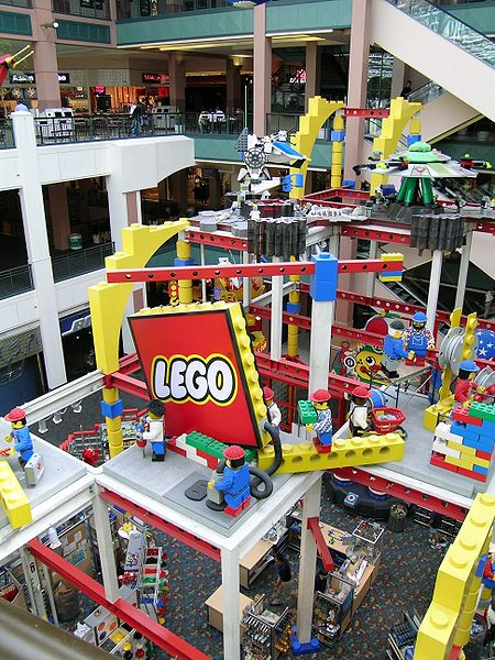 Lego masterpieces at the Mall of America.