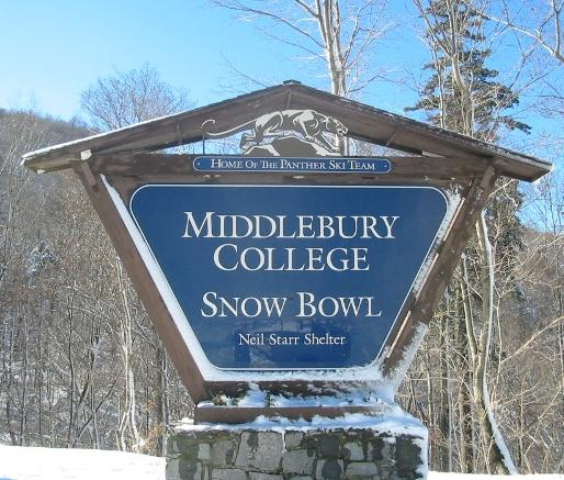 Vermont colleges like Middlebury celebrate winter sports.  Middlebury's Snow Bowl region was established in 1934.