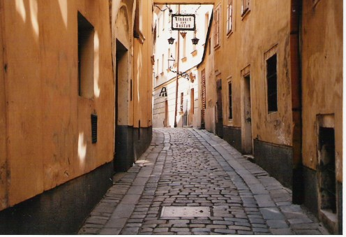 Streets in Bratislava's old town defy the imagination.