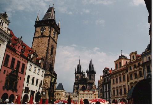 Prague's central square.