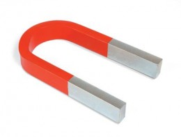 A horseshoe magnet is a bent bar magnet.