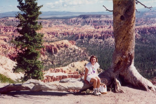 My niece at Bryce Canyon National Park