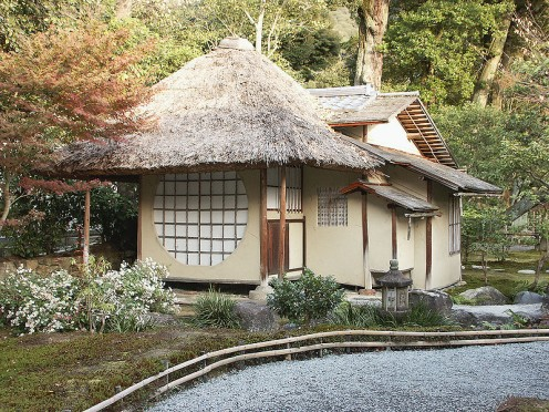 Traditional Style Tea House of Japan