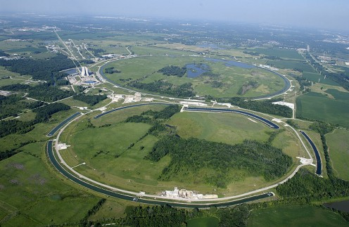 Site of Fermilab, Fermi National Accelerator Laboratory (Photos this page, public domain)