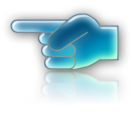 When you point one finger to other, always remember the other FOUR is pointing towards you.