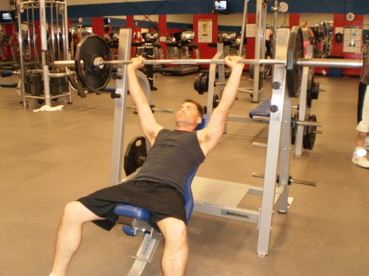 The Incline Bench Press start position
