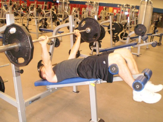 The Decline Bench Press start position