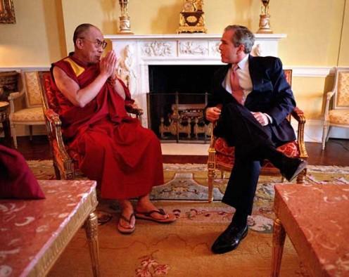 With President Bush (public domain)