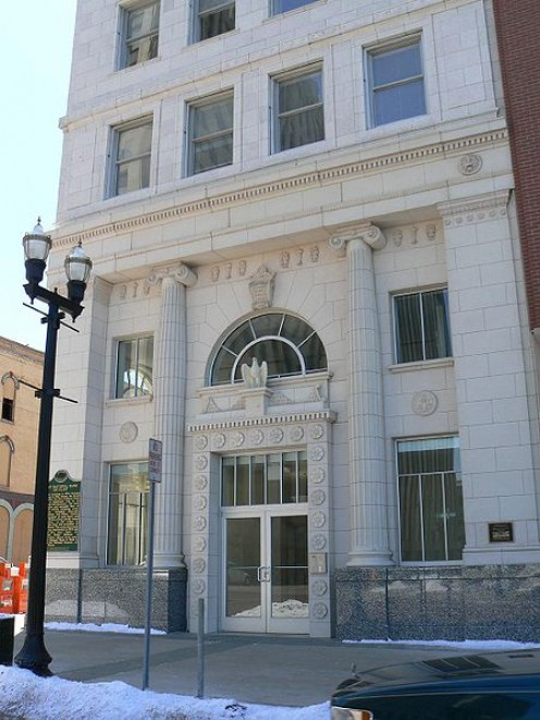 First National Bank and Trust. Flint has several older historical buildings that are preserved.