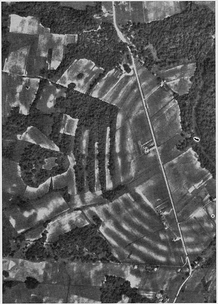 Ancient Earthworks. (public domain aerial scan)
