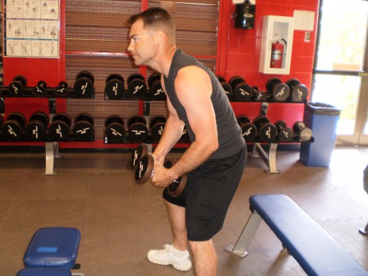 The Reverse Lateral raise starting position