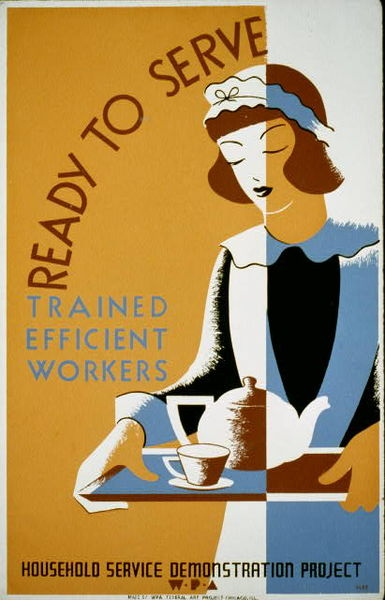 A WPA Poster from the FDR administration years: 1930s Great Depression Era training and jobs received a boost from the Works Progress Association.