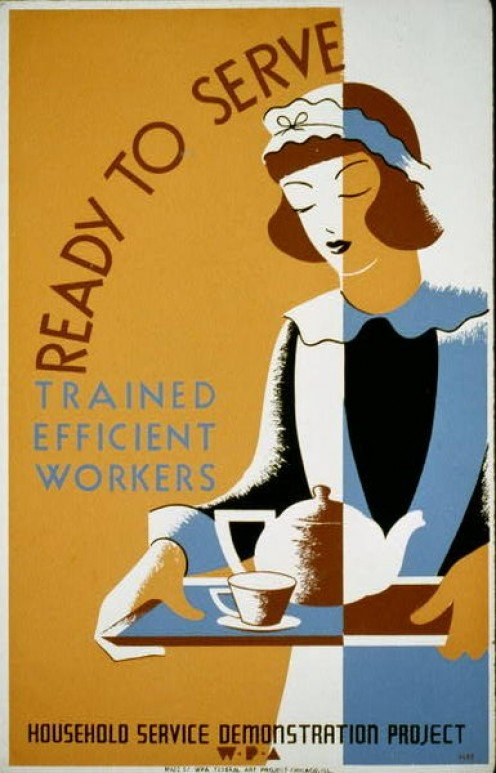 1930s Depression Era training and jobs. (photos public domain)