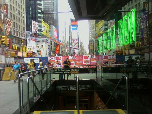 Manhattan Subway entrance.