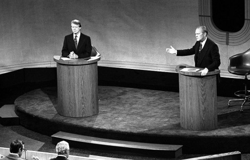Carter-Ford Debate, September, 1976. (Photos public domain)