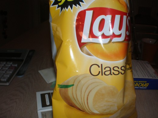 The 99 cent Lays Potato Chip Bag