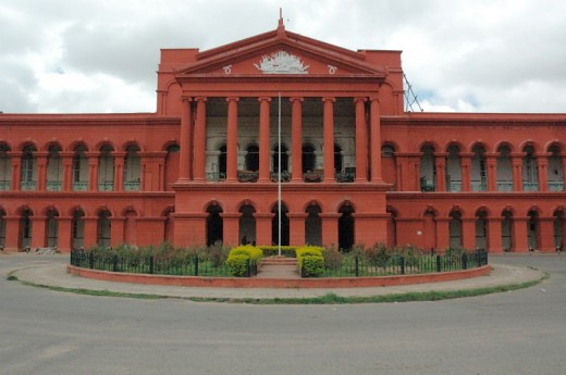 Karnataka High- court.Present opposite to Vidhana soudha, in Bangalore