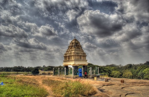 KEmpe Gowda tower-present at one end of LAL BAGH. The founder built four such small towers to indicate the limit upto which athe city should grow. But Bangalore has long back crosed that limit.