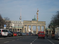 The Brandenburg Gate. The Berling Wall ran directly in front of it before it was dismantled.
