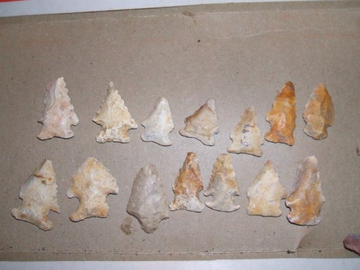 "Very few actual ""arrowheads"" are found in the kill zone"