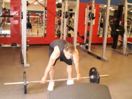 The Barbell Stiff legged deadlift start position