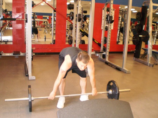 The Barbell Stiff legged deadlift start position