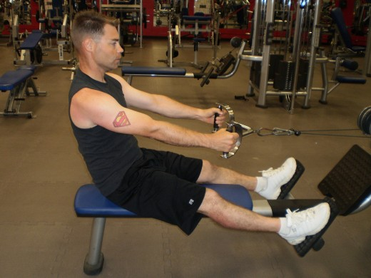 The Seated cable row start position