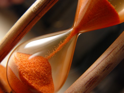 Sand dial Timepiece