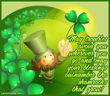 Clover is believed to bring in lots of good luck!