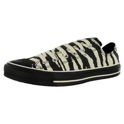 Converse All Star Chuck Taylor ANIMAL PRINT OX Women's Shoes Black, White  $44.00