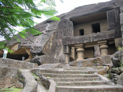 One of the many caves on Elephanta island, situated in Arabian sea, 11 k.ms from Gateway of India.It has remarkable carvings