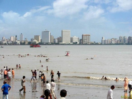 famous Juhu beach in Mumbai.You can freely wander here. Many film stars, including Amitabh Bacchan,Aishwarya Rai, etc, live in this area. Near this beach is-Hare Krishna temple, worthy of visit.