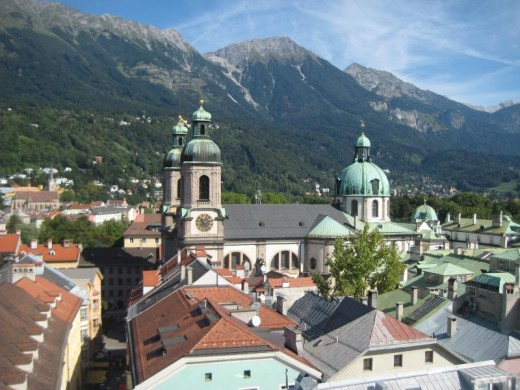 Innsbruck in the alpine region