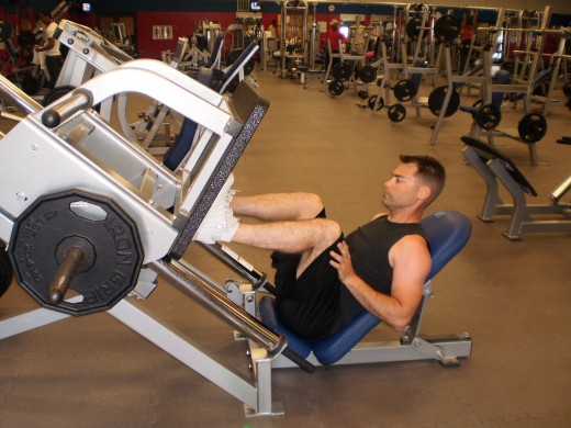 The Leg Press down position