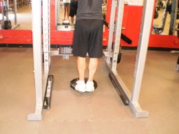 The Calf Raise up position