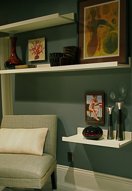 Shelving is a good-looking and useful way to decorate walls.