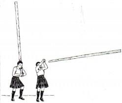 Caber toss (public domain)