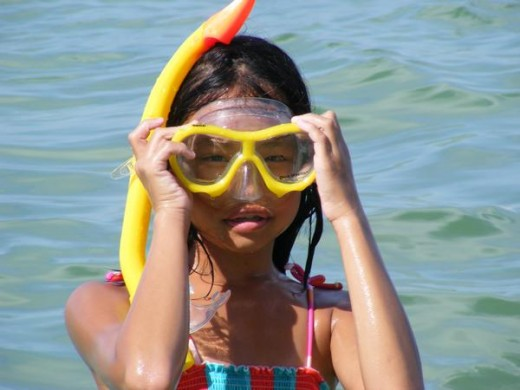 Kids love snorkeling in the clear, calm waters!