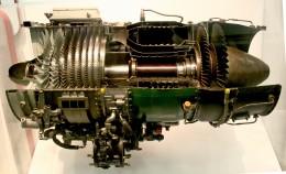 Photo of a gas turbine turbojet engine from a Cessna A-37 (courtesy of Sanjay Acharya)
