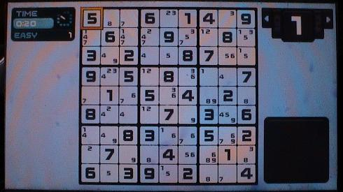 Sudoku with Candidate Numbers