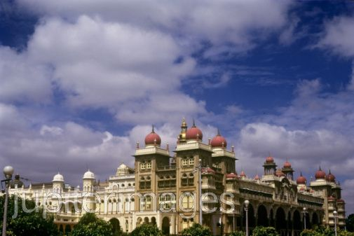 Grand Mysore palace.Construction was complered in 1914,This is one of the best palaces in india, and certainly the grandest palace in south India