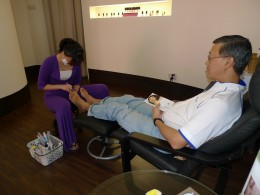 Having a feeling of what Pedicure is all about at Divine Medical Spa