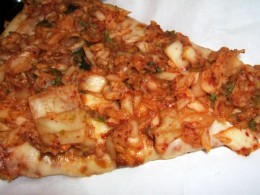 TJ's Pizzeria's Kimchi pizza is the reason why Flushing, NY got its name. This pizza is only suitable for flushing!
