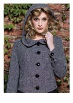 vintage style tweed hooded jacket coat