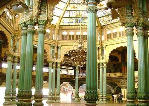 A porch inside the Mysore palace