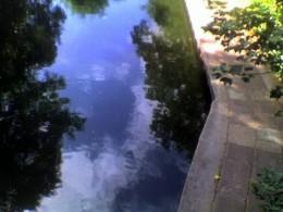 the canal leaving regent's park