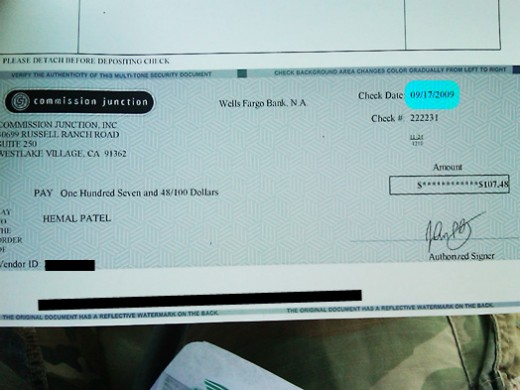 My First Check!