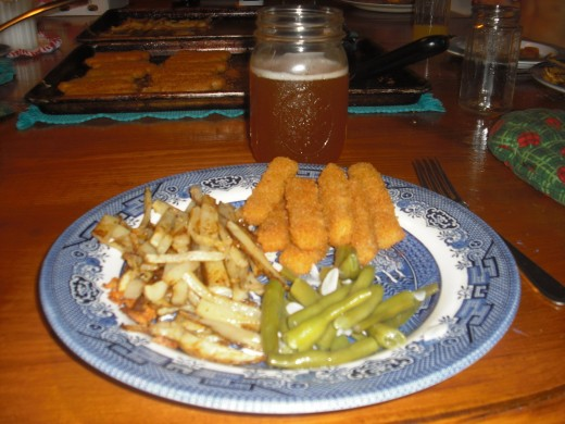 fish sticks 'n' chips