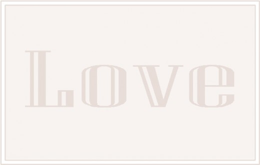 Love with Grey text